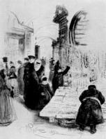 В Гостином дворе. Рисунок. 1891