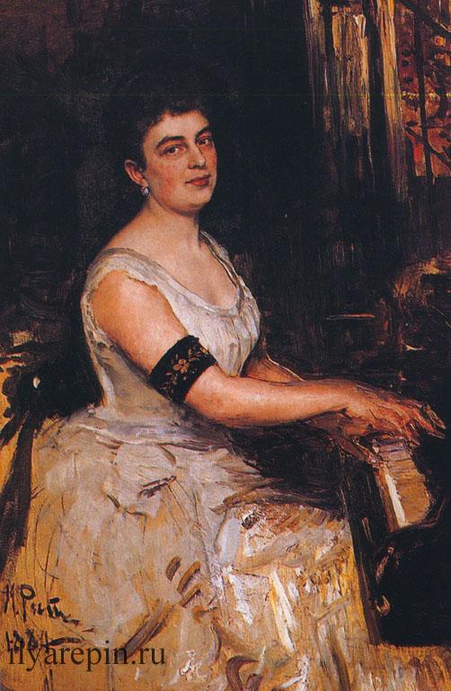 Портрет пианистки Марии Бенуа