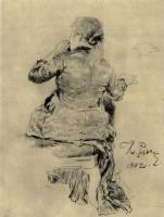 Испуганная девушка. 1882