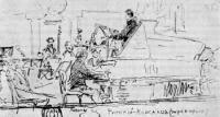 Н.А. Римский-Корсаков дирижирует. Рисунок. 1882