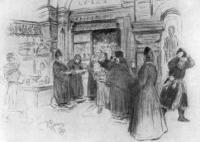 Часовня у Гостиного двора. Рисунок. 1891
