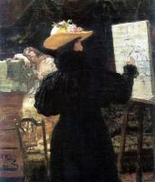 М. К. Тенишева за работой. 1897