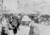 Невский проспект. Рисунок. 1891