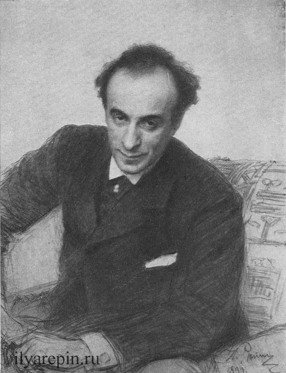 И. Е. Репин. Портрет Г. Г. Ге. Пастель (1899 е.).