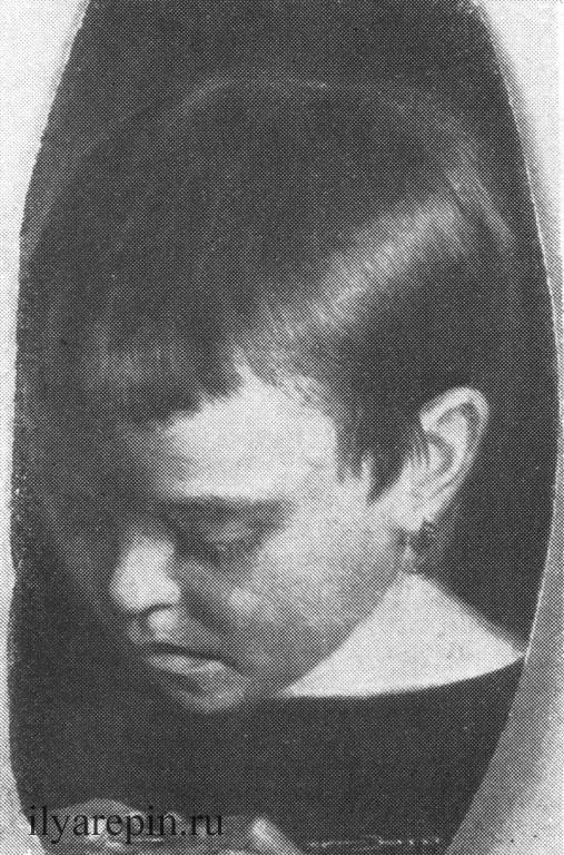 И. Е. Репин. Портрет Анюты Петровой (1864 г.).